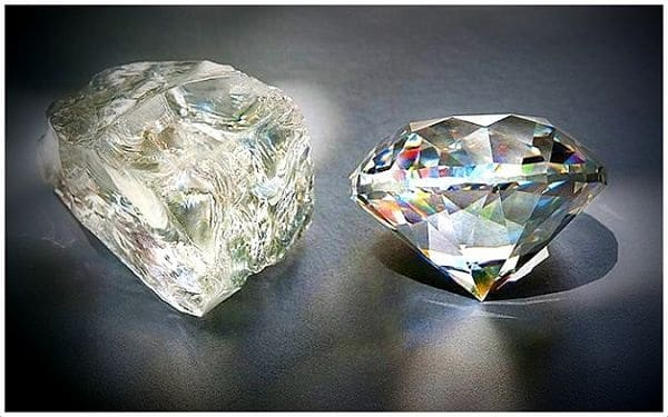 бриллиант и алмаз