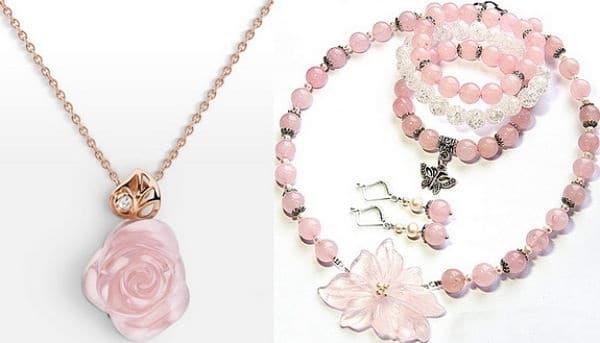 агат розового цвета