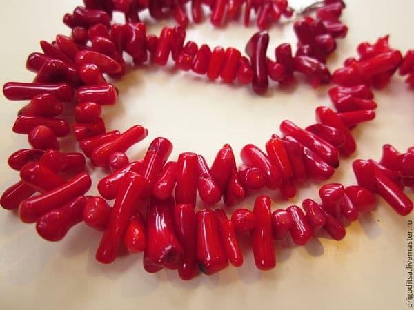 коралл красного цвета