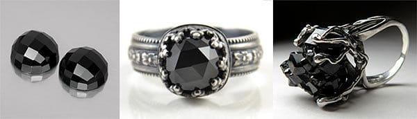 камень черного цвета